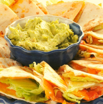Low FODMAP Cheese Quesadillas With Guacamole