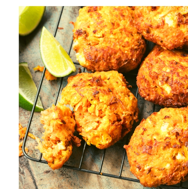 Low FODMAP Lamb & Sweet Potato Fritters
