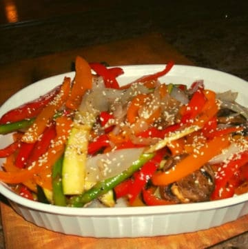 Low FODMAP Grilled Veggies With Sesame Seeds
