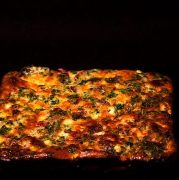 low FODMAP Spinach frittata